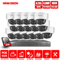 16CH 2MP 4MP 5MP POE NVR CCTV Security System 16PCS IR Outdoor indoor Audio Record IP Camera P2P Video Surveillance Kit 4TB HDD