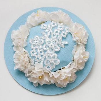 New Women Flowers Hair Accessories Fascinators Hair Clip Goth Ladies Wedding Party Fascinator Felt Hats 2