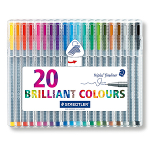 Image 4 - Lifemaster Staedtler Triplus Fineliner Vilt Tip Tekening Pen Art Marker 0.3 Mm Multi Color 334SB
