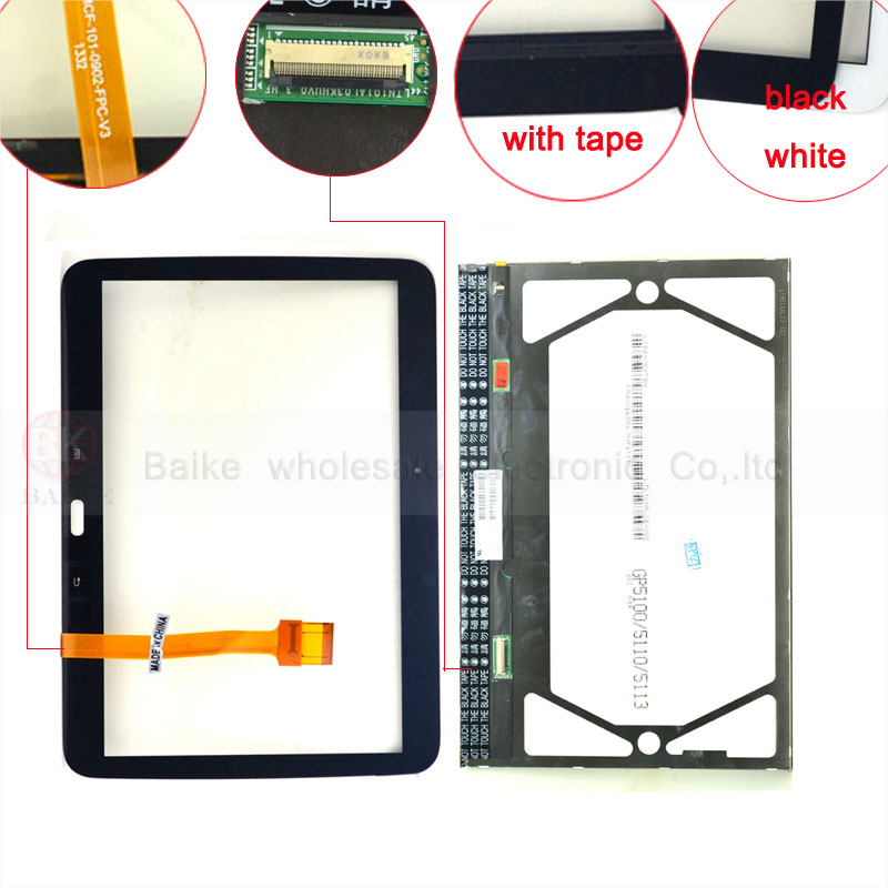 BQT Lcd tablet 100% Guarantee Original P5200 Touch Panel For Samsung Galaxy Tab 3 10.1 P5200 P5210 Touch Screen Digitizer Panel