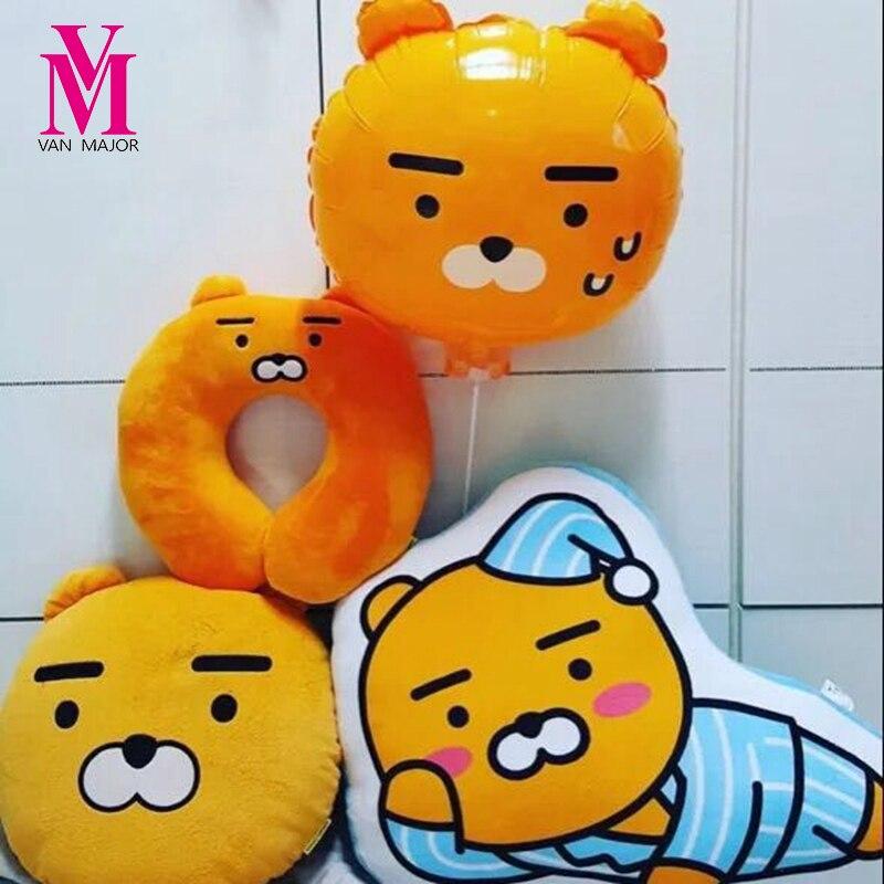 50cm 1Pcs Kakao Friends Pillow Ryan Cocoa Plush Dolls Stuffed Toys