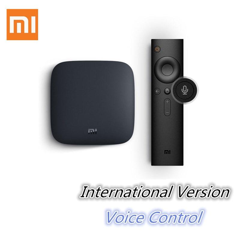 International Xiaomi MI BOX 3 Android 6.0 Smart WIFI Bluetooth 4K HDR H.265 Set-top TV Box Youtube Netflix DTS IPTV Media Player