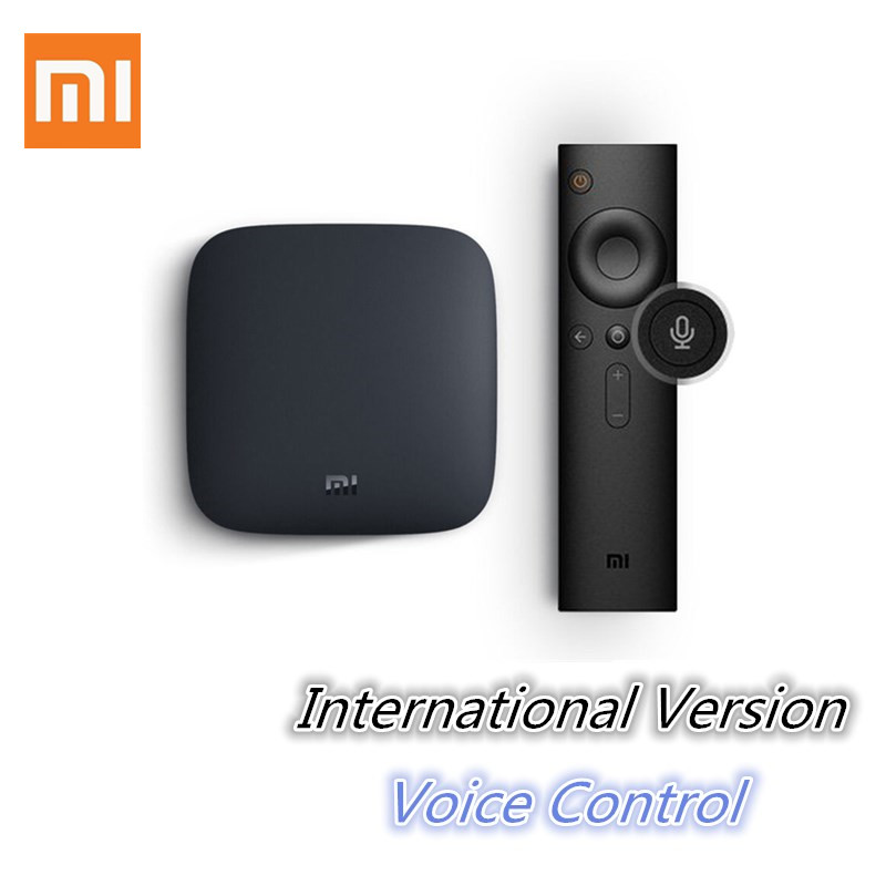 International Xiaomi MI BOX 3 Android 6 0 Smart WIFI Bluetooth 4K HDR H 265 Set