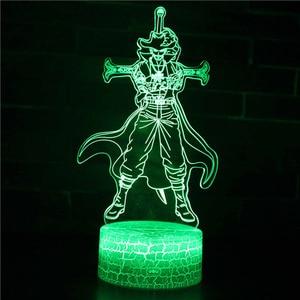 Image 4 - Một Mảnh 7 Màu Thay Nhân Vật Hành Động Đèn Luffy USB Đèn Led Để Bàn Zoro Mihawk Nắng Tàu Đồ Chơi Mô Hình quà Tặng Giáng Sinh