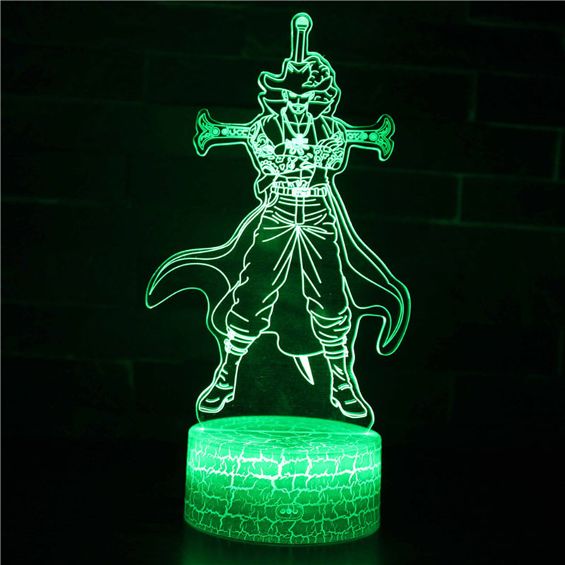 Image 4 - One Piece 7 Colors Changing Table Action Figures Lamp Luffy USB Led Desk Light Zoro Mihawk SUNNY Ship model toys Christmas Gift-in Action & Toy Figures from Toys & Hobbies
