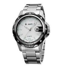 2016 Relojes de marca de lujo de Negocios Reloj de cuarzo deporte hombres llenos de acero relojes de pulsera de buceo 30 m reloj Casual relogio masculino