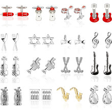 High Quality Fashion Musician Cufflinks sax Piano music designs copper material men cufflinks whoelsale&retail(China)
