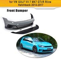 PU Unpainted Auto Car Front Bumper Body kit For VW Golf MK7 & GTI & R 2014 2017