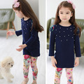 Children Girl Floral Casual Suit Long Sleeve T-Shirt+leggings Kids Clothes Set Children Clothing Set Girl Clothes 2pcs/Set Kids