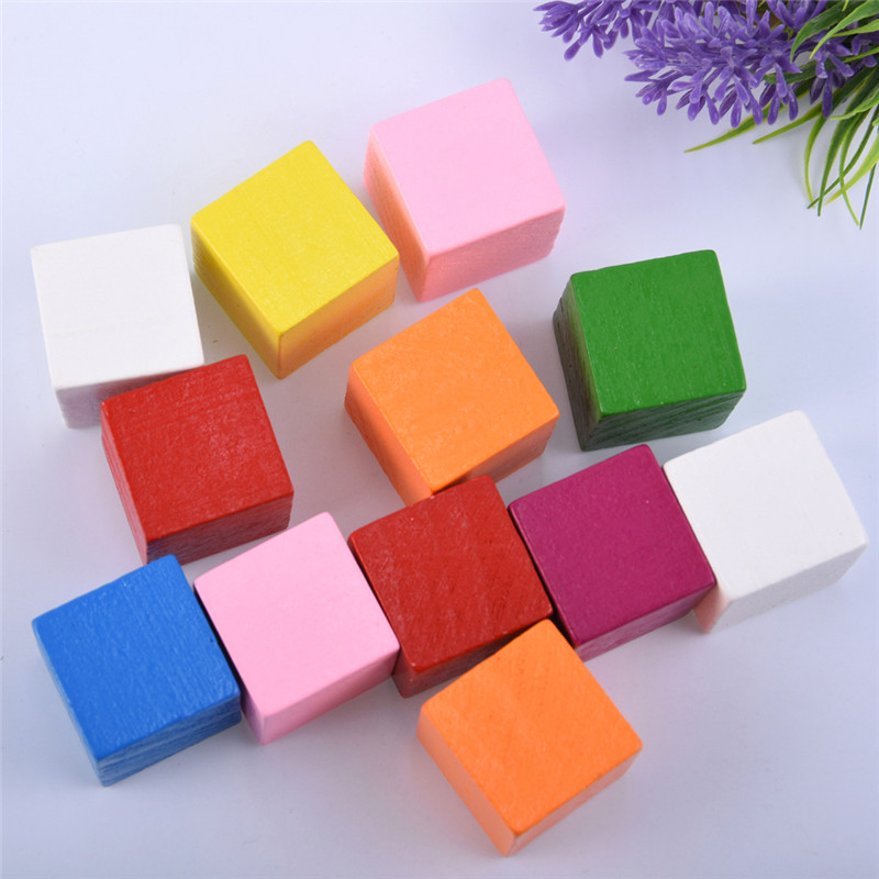 5Pcs/Set Kids Baby Blocks Funny Colorful Wooden Cube Jenga Blocks Skill Stack Grown Up Toys Tower Collapses Games Gifts For Kids