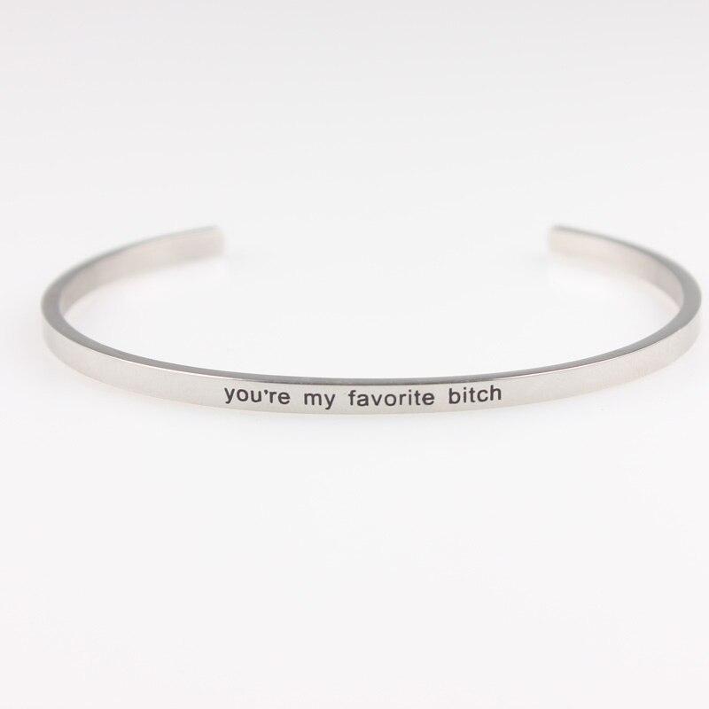 2873e718807c Camina con fuerza y dignidad Acero inoxidable grabado positivo inspirado  carta pulsera y brazalete para las mujeres en Brazaletes de Joyería y  accesorios en ...