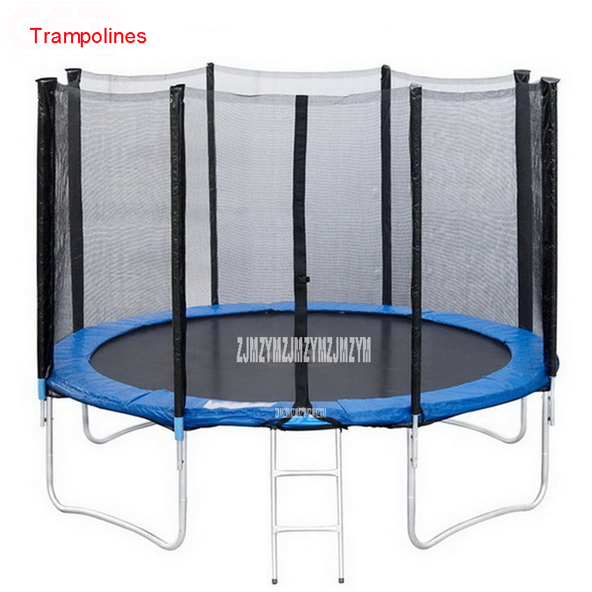 55 Inch Kids Elastic Ring Trampoline With Safe Net Fits Jumping Material PVC Interior with net bungee jumping High Quality 16 feet high quality practical trampoline with safe protective net jump safe bundle spring safety with ladder load weight 700kg