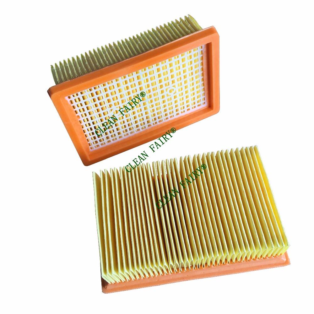 Livraison gratuite 2 pcs de remplacement karcher plat filtre plissé pour karcher mv4 mv5 mv6