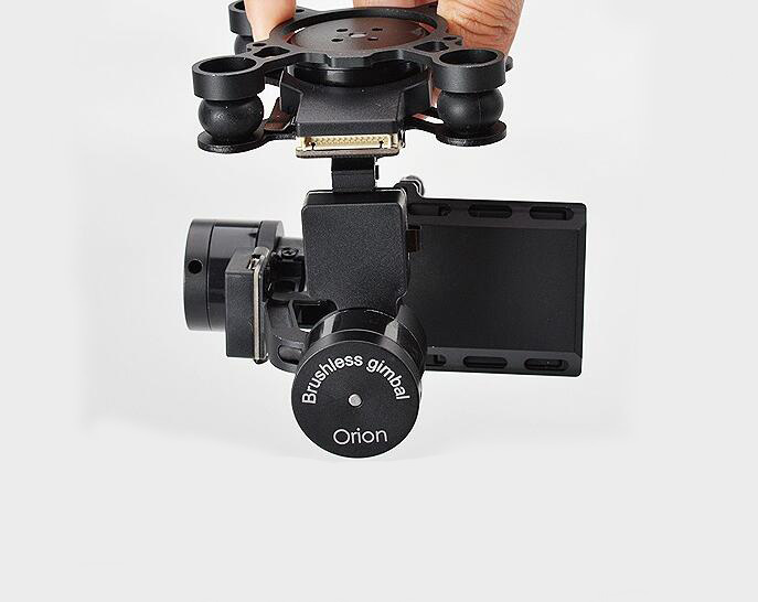 Free Shipping Rctimer H4-3D 3-Axis Brushless Gopro Gimbal with 32Bit Mini AlexMos Controller (camera not included) free shipping 32 bits controller dys dslr handheld brushless gimbal with joystic and new 6080 motor
