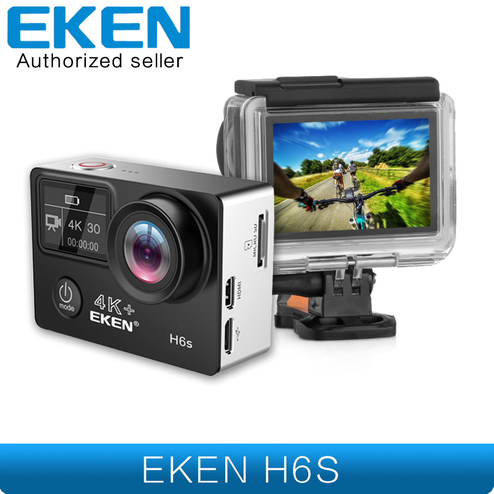 EKEN H6s 4K+ Utral HD 14MP with EIS Remote Sport Camcorder Ambarella A12 Chip Wifi 30m Waterproof Panasonic Sensor Action Camera eken h6s a12 ultra 4k 30fps wifi action camera 30m waterproof 1080p go eis image stabilization ambarella 14mp pro sport cam