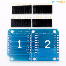 Double douille Double Base bouclier pour Wemos D1 Mini NodeMCU ESP8266 bricolage PCB D1 carte d'extension(China)