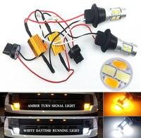 2X7440 20SMD T20 5730 Đèn LED Xe Màu Kép Switchback Xếp Bật Tín Hiệu Lỗi Miễn Phí Canbus