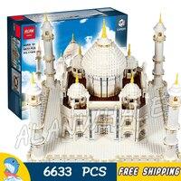 6633 шт. Архитектура чудо Тадж Махал огромный Кот белый Мрамор мавзолей 17008 модель строительных блоков игрушки совместим с Lego