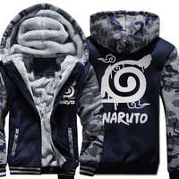 2019 Winter Fleece Camoufalge Hoodies Men Sweatshirt Print NARUTO Anime Casual Hoodie Harajuku Men's Sportswear Tracksuit Hoody