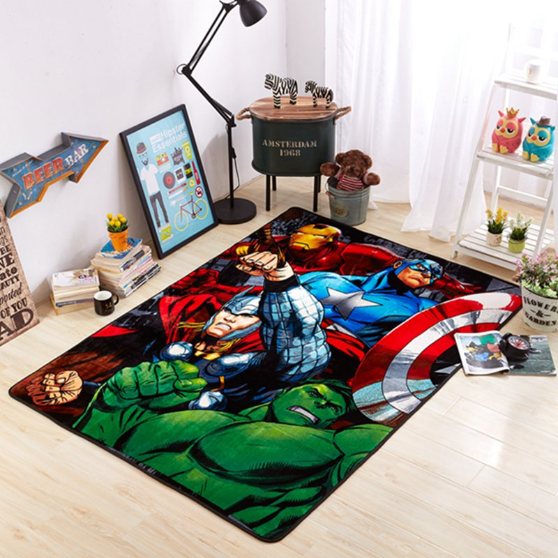 3D Flannel Mat Iron Man Avengers Captain America Hulk Raytheon Floor Mat  Cotton Rugs Carpet Treads Outdoor Rug Bedside Rug In Mat From Home U0026 Garden  On ...