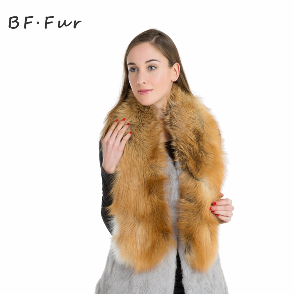 New WomenReal Fox Fur Scarf Natural Genuine Luxury Soft Red Fox Hair Scaves Shawls For Women 130cm long fox tail Warm Scarf