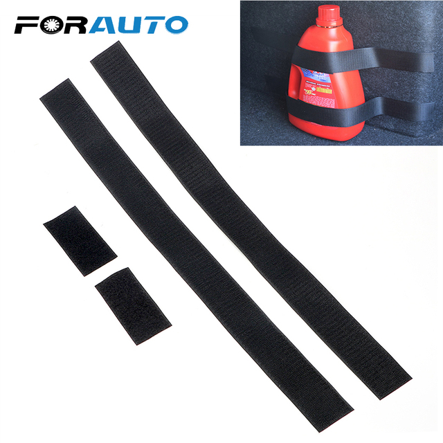 FORAUTO Car Trunk Organizer Fire Extinguisher Mount Straps Black Belt Fixed Sundry Stowing Tidying 60 x 5cm Car-styling