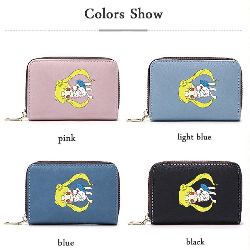 App Blog Cute Cartoon Anime Sailor Moon Tsukino Usagi Cards Holder Wallet Case Travel Passport Cover Id Credit Cards Bag Women Card & Id Holders