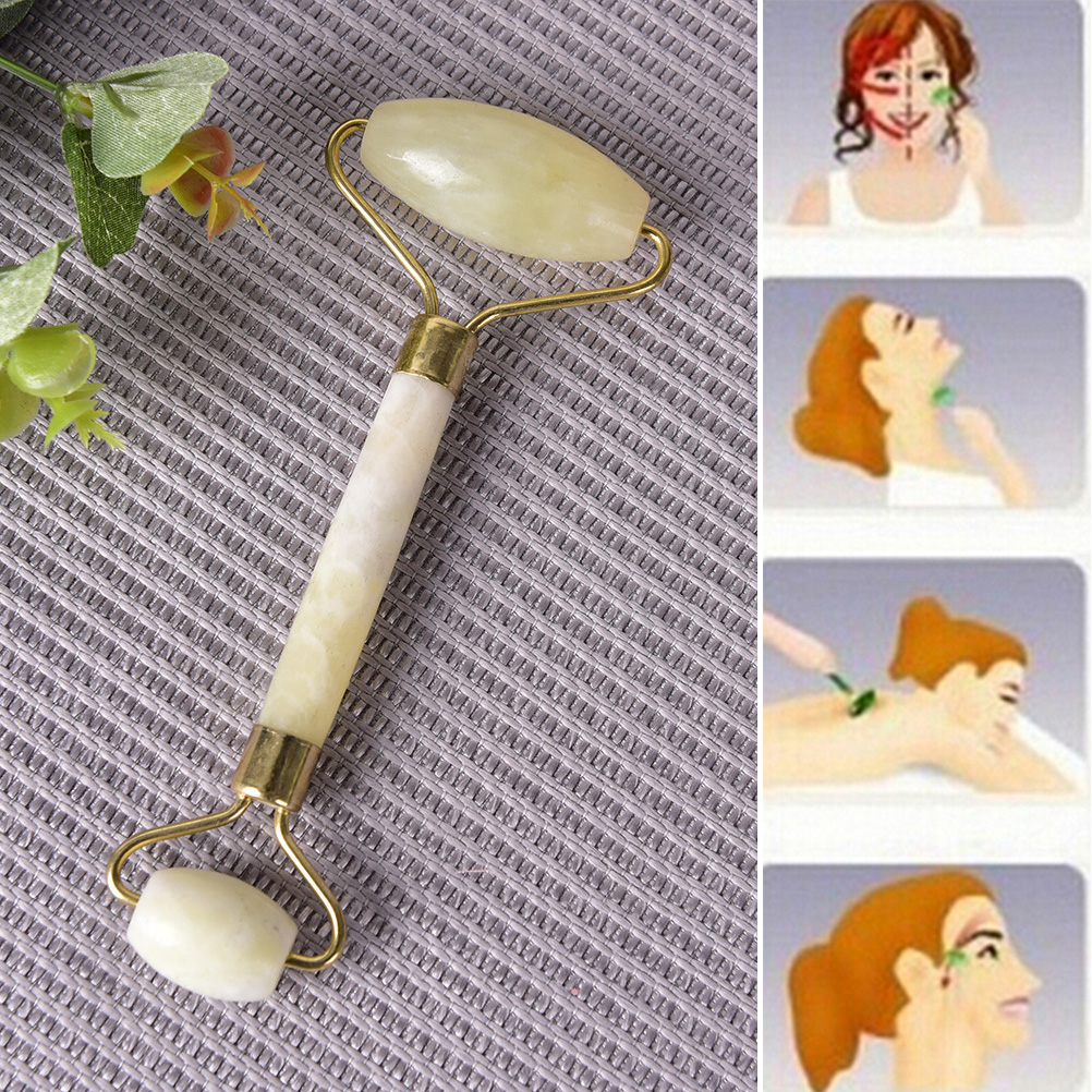 High Quality 1Pcs Facial Massage Roller Natural Jade Stone -6620