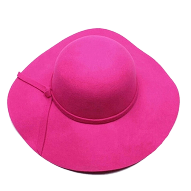 382b8417b3d662 SYB 2016 NEW Stylish Kids Girls Wide Brim Retro Felt Bowler Floppy Cap  Cloche Hat-