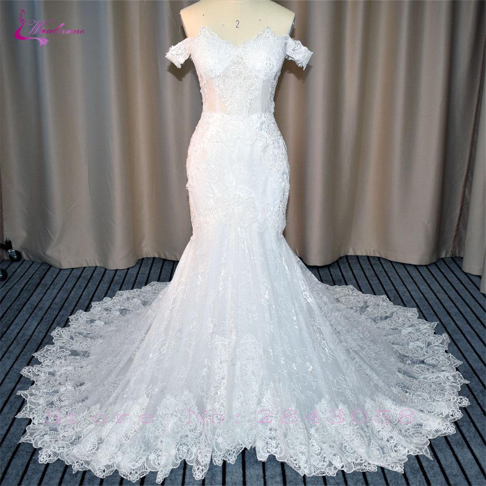Waulizane Vintage Off The Shoulder Mermaid Vestuvinės Suknelės - Vestuvių suknelės