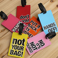 NEW Heavy-Duty PVC silicone letter travel Baggage Luggage tag Bag Tag bus card sets Silica gel products