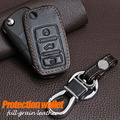 Genuine Leather Key Chain Ring Cover Case Holder Wallet For Skoda Octavia 2 A 5 7 Fabia Yeti Rapid Superb Leather Wallet Key Bag