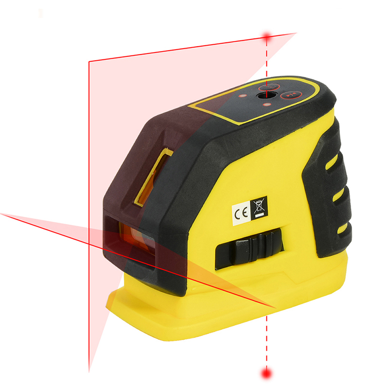 FIRECORE F118L 2 Lines 2 Points Laser Level Self-leveling Horizontal And Vertical Cross Red Laser Line
