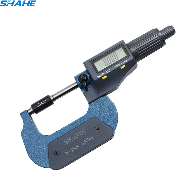 SHAHE 25-50mm Electronic Digital Outside Micrometer Gauge Digital Micrometer gauge 0.001 mm digital micrometer digital micrometer for external measurements 0 25 mm 0 001mm micrometer electronic acute electronic single point micrometer
