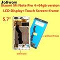 Высокое Качество для Xiaomi Mi Note Pro 4 + 64 ГБ версия ЖК-Дисплей + Touch Screen Digitizer Ассамблеи Замена Дать силиконовый чехол