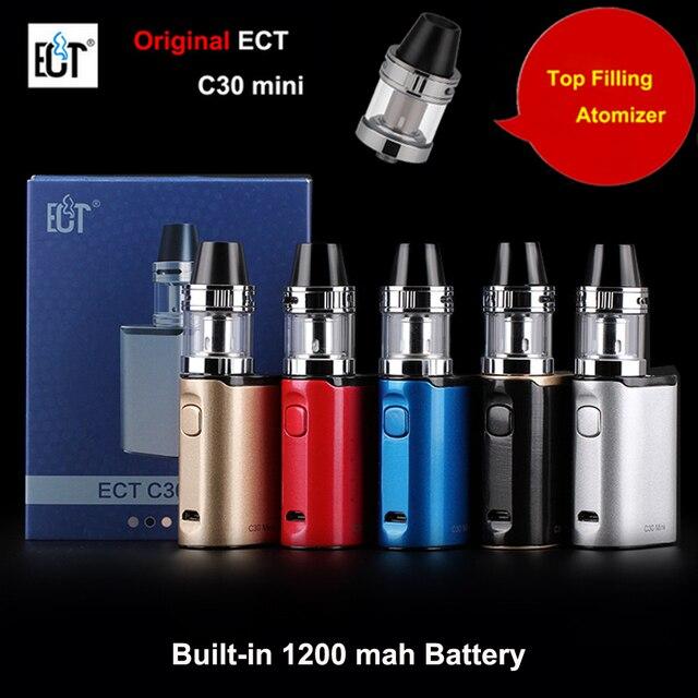 Оригинал ECT C30 Mini Kit Топ заполнения Kenjoy Встретились 2 мл Распылитель Встроенный 1200 мАч Батареи испаритель Поле Mod Электронных сигареты