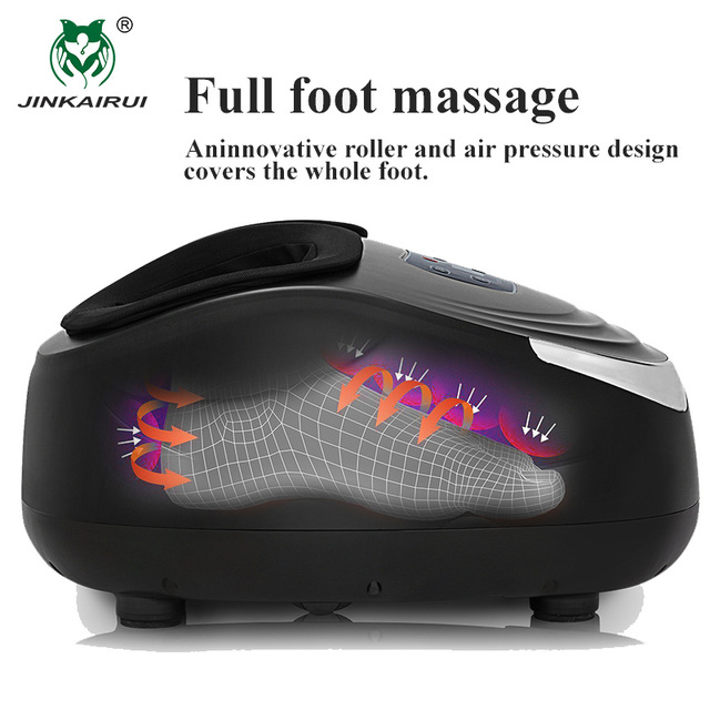 Jinkairui Kneading Air Compression Electric Foot Massage Machine For Health Care Infrared With Heating and Therapy Anti-stress 2