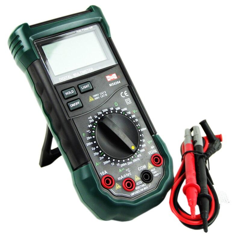 MASTECH MS8264 2000 Counts Digital Multimeter AC DC Voltage Current Tester Detector Meter with Transistor Check and Diode  цены