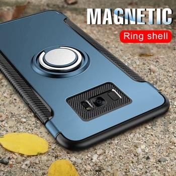 Роскошный магнитный автомобильный чехол для Samsung Galaxy S7 Edge S9 S8 Plus Note 9, чехол для телефона S10e Plus, ударопрочный чехол