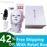 LED Mask For Face Neck EMS Micro current Anti Wrinkle Acne Removal Skin Rejuvenation Electric Facial Beauty Machine
