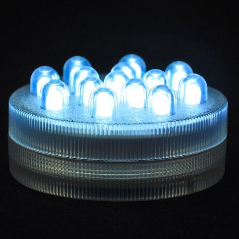 Livraison gratuite un Dazen couleur blanche Led télécommandé à piles Submersible Sumix 14, lumière submersible Floralyte - 6