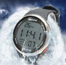 XONIX Moda Hombre Relojes Deportivos Impermeable 100 m Natación Buceo Reloj Divertido Reloj Digital Al Aire Libre Reloj Hombre Montre Homme