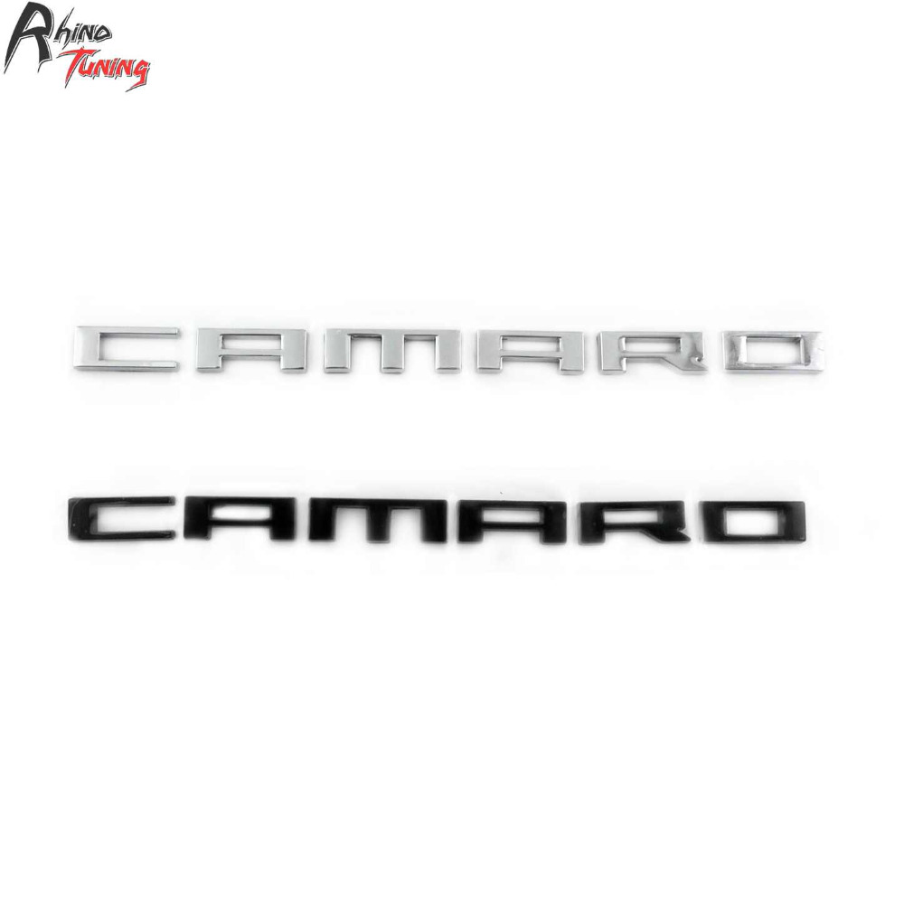 Rhino Tuning Car Side Wing Emblem Nameplate Letters Insignia Fifth Generation Badge Auto Styling Sticker For 2010-2015 Camaro