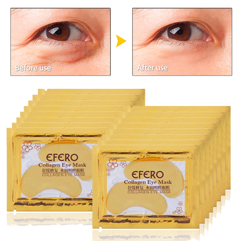 EFERO 50Pair Gold Patches Under the Eyes Mask Crystal Collagen Eye Mask Anti Aging Eye Gel Patch Repair Anti Wrinkle Anti Aging Facial Care
