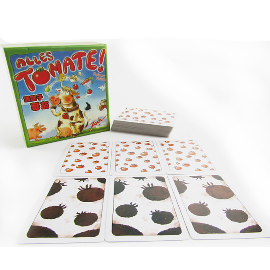 Funny Card Game Alles Tomate! Board Game 2-8 Players Family/Party Best Gift for Children ...