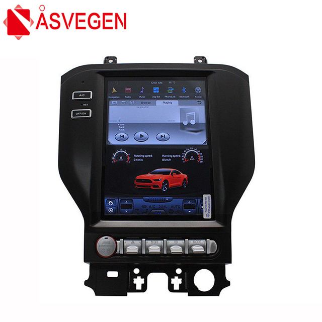 Asvegen 10 4 Vertical Screen Android Car Radio For Ford Mustang 2017 Gps 4g Wifi Bt Dvd Stereo Navi Multimedia Player