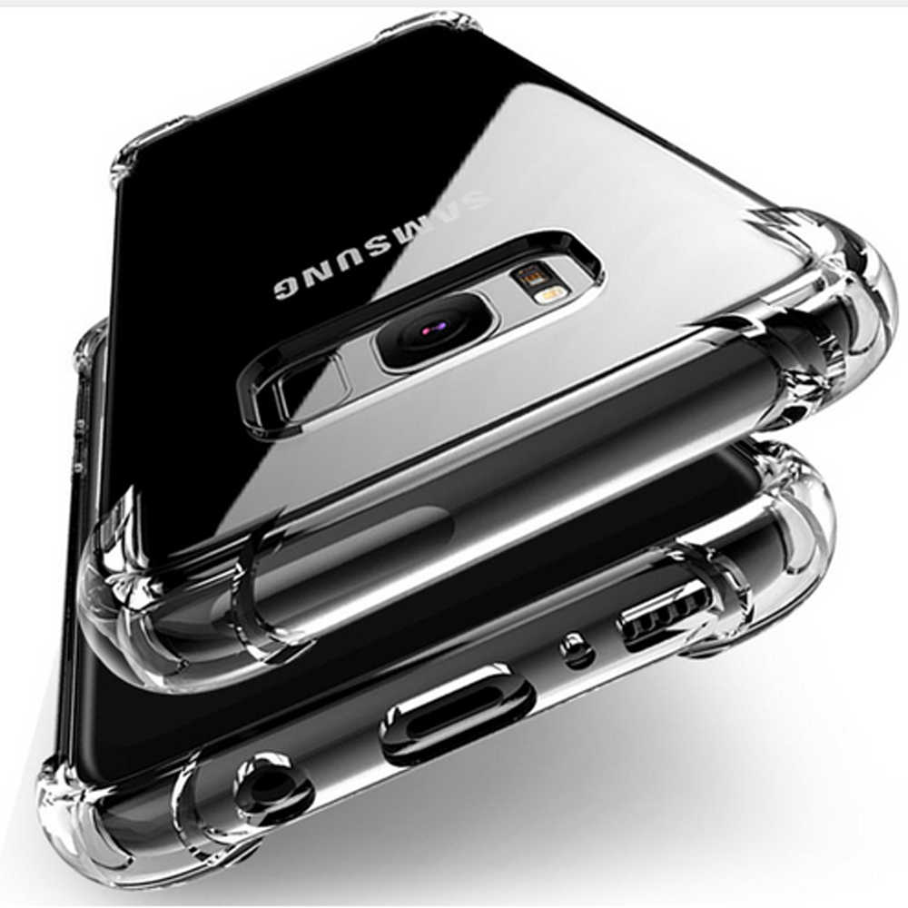 Shockproof Clear Soft Silicone Armor Case For Samsung Galaxy S9 S8 Plus Note 8 A7 A9 A8 A6 Plus 2018 J4 J6 J3 J5 J7 2017 A6S
