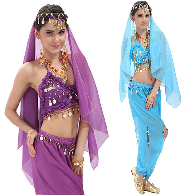 3pcs Set Egyption Egypt Belly Dance Costume Bollywood Dance Costume Indian Dress Bellydance Performance Dancing Clothing Sets
