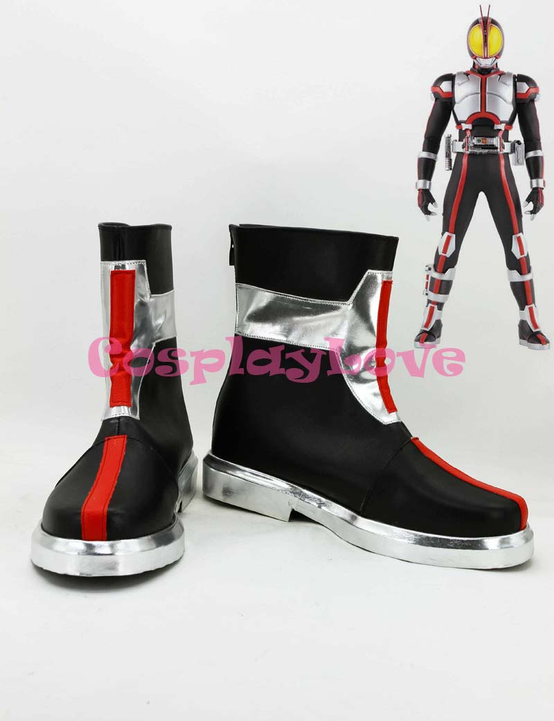 Newest Custom Made Japanese Anime Masked Rider Kamen Rider Faiz Cosplay Shoes Long Boots For Halloween Christmas CosplayLove цена
