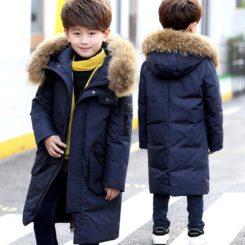 boys Down Jacket big Authentic Winter boy white down Coat Thicken Overcoat Kids Outerwear Parkas Hooded 6-15age -10-30 degree boys down jacket boy winter coats jackets boy 100% white duck down jacket russia winter boys down jacket 30